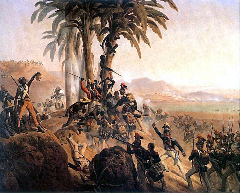 Battle at San Domingo, a painting by January Suchodolski, depicting a struggle between Polish troops in French service and the Haitian rebels